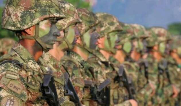 Uniformados del Ejército Nacional