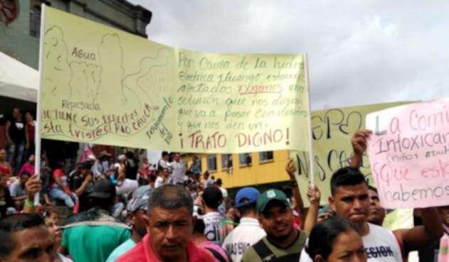 Protestas contra EPM en Puerto Valdivia