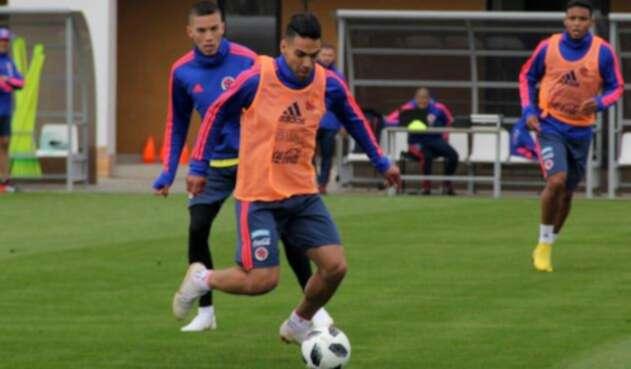 Radamel Falcao en entrenamientos