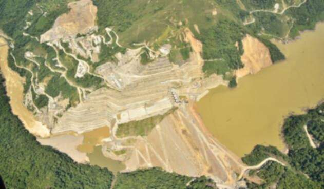 Esta es la represa de Hidroituango.