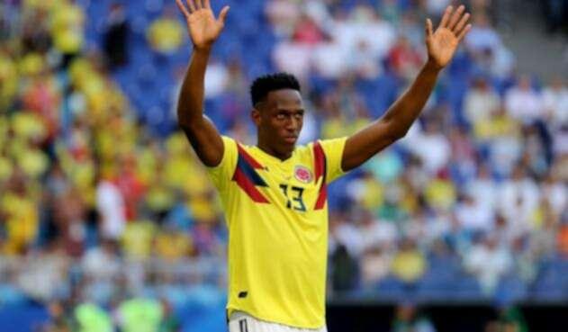 Yerry Mina con la Selección Colombia ante Senegal