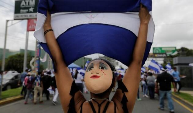 Miles de personas resisten contra el presidente de Nicaragua, Daniel Ortega.