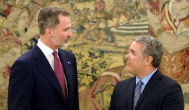 El presidente electo de Colombia, Iván Duque se reunió con el rey Felipe VI de España.
