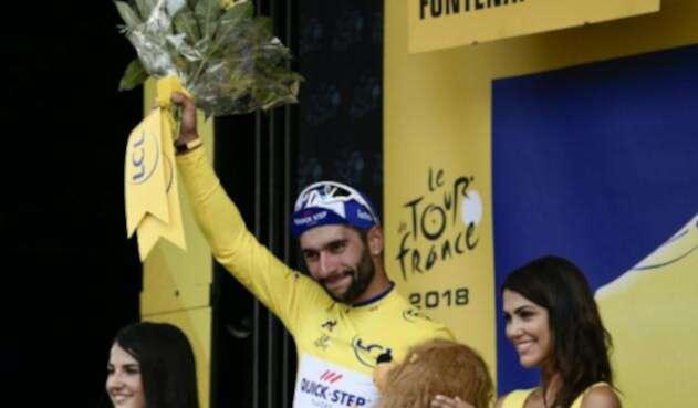 Fernando Gaviria, por la segunda etapa del Tour de Francia