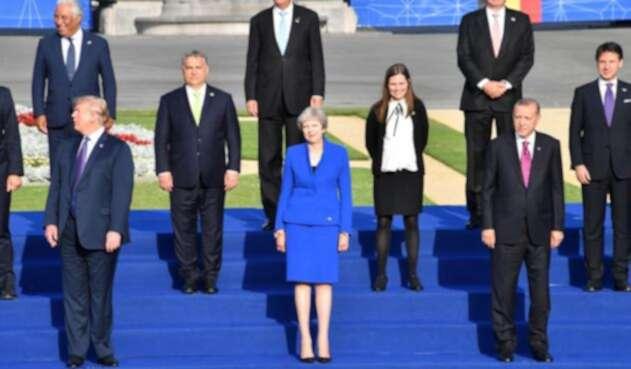 Líderes de la OTAN reunidos en Bruselas.