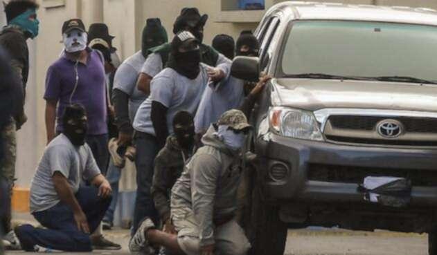 """Grupos """"paramilitares"""" afines al gobierno en Nicaragua."""