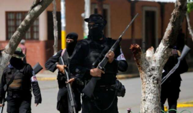 Presencia de grupos paramilitares en Masaya, Nicaragua.