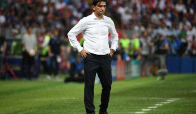 El técnico de Croacia Zlatko Dalic en la final del Mundial de Rusia-2018