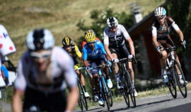 El ciclista colombiano Nairo Quintana en la etapa 12 del Tour de Francia