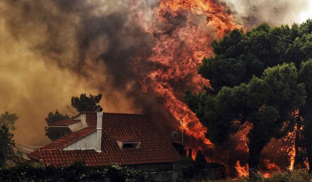 Incendios voraces en Grecia