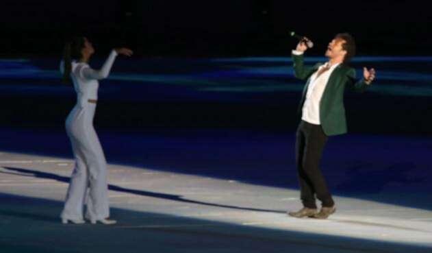 Cavas y Paulina Vega en la inauguración de los Juegos Centroamericanos y del Caribe