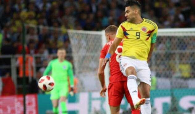 Radamel Falcao anotó un tanto en el Mundial de Rusia 2018