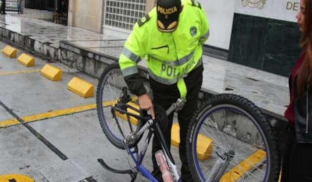 Operativos de la Policía Metropolitana contra bicicletas robadas