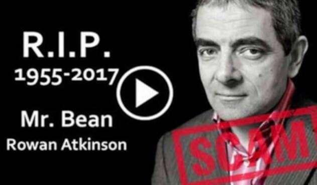 Meme falso sobre homenaje a Mr. Bean