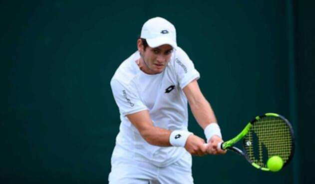 Nicolás Mejía en los cuartos de final de Wimbledon