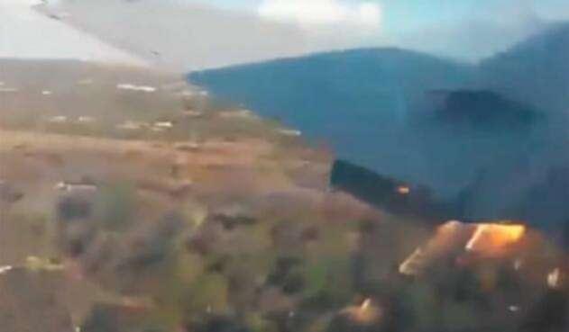 Accidente aéreo captado en Sudáfrica