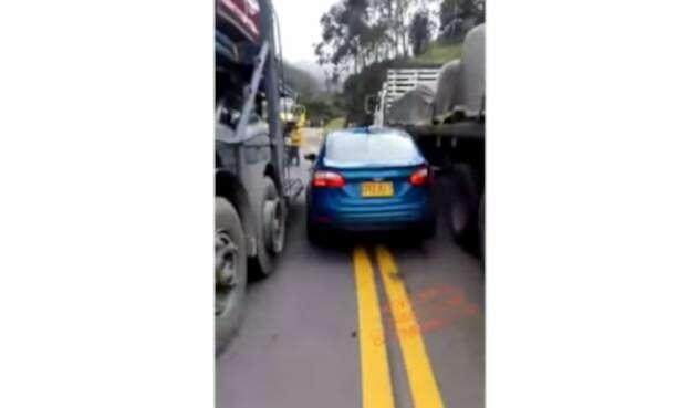Así fue el accidente vial en el Alto de la Línea