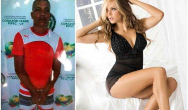 El detenido alias Caras y la modelo Elizabeth Loaiza