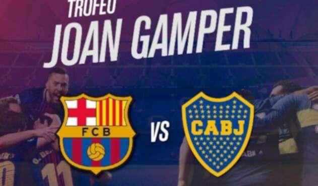 Afiche del amistoso Barcelona y Boca Juniors que se jugará en agosto.