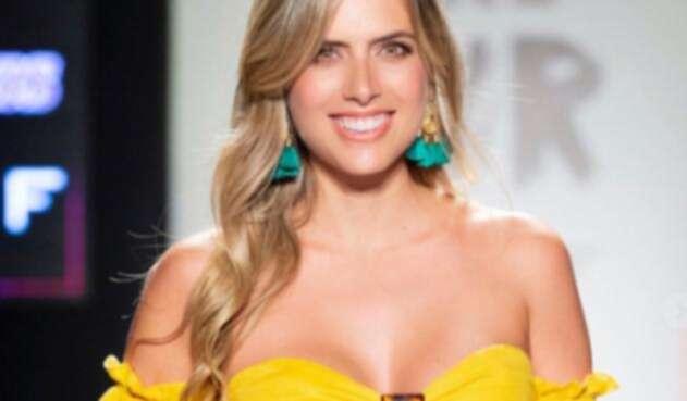 Ana Sofía Henao lució su embarazo en pasarela de Colombiamoda