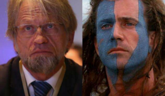 Antanas Mockus, hizo un 'William Wallace'