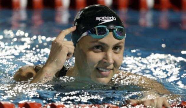 Isabella Arcila impuso nuevo récord centroamericano en el 50 libre