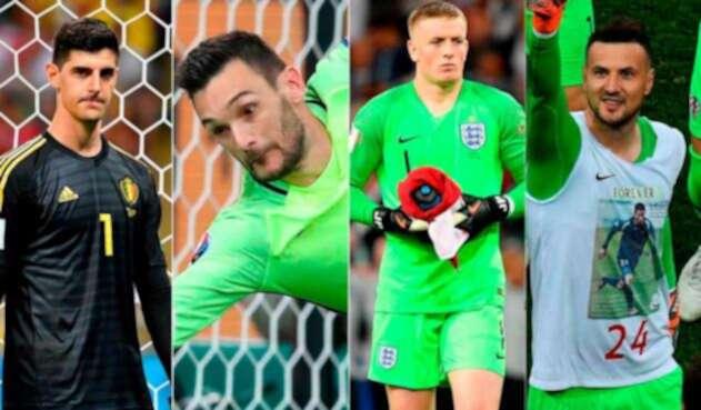 Courtois, Lloris, Pickford y Subacic, semifinalistas del Mundial