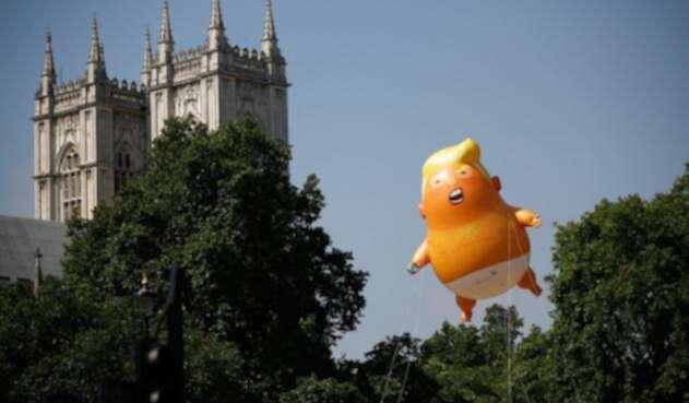 El bebé Trump que se alzó sobre Londres