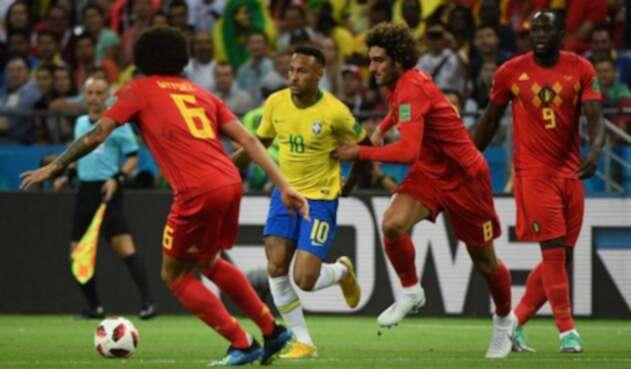 Brasil vs Bélgica en Rusia 2018