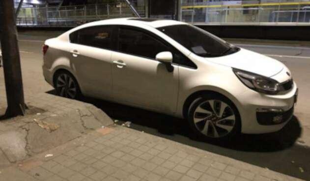 Vehículo hurtado en el sur de Bogotá