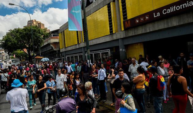 Caracas, capital de Venezuela, en medio del apagón
