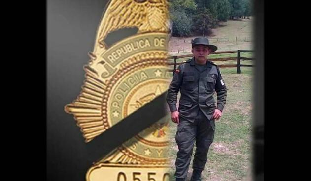 Carlos Darío Nieves, patrullero asesinado durante el partido de Colombia