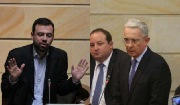 Carlos Fernando Galán y Álvaro Uribe, en permanente enfrentamiento