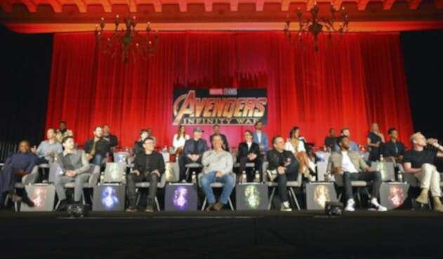 El cast de Avengers: Infinity War en una gran rueda de prensa