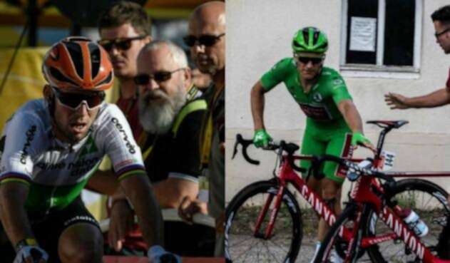 Mark Cavendish y el alemán Marcel Kittel