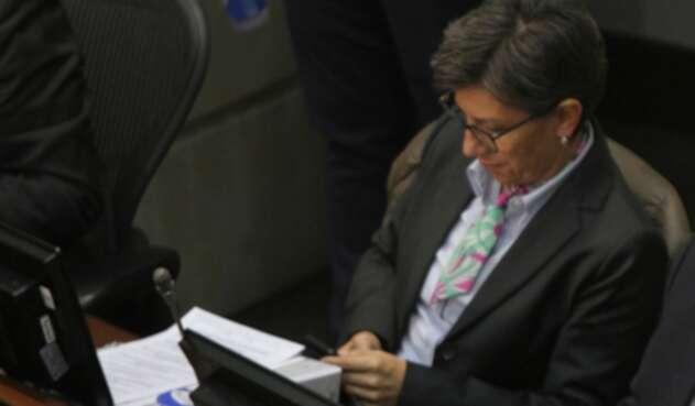 Claudia López, excongresista, en Senado de la República, el 20 de julio de 2018