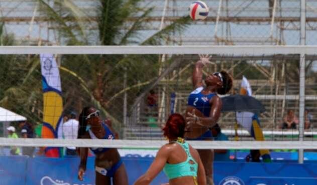 República Dominicana cayó ante Colombia en el voleibol playa de los Voleibol playa de los Juegos Centroamericanos y del Caribe Barranquilla 2018