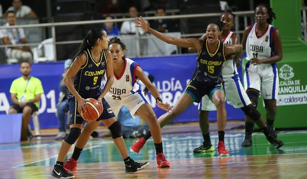 Colombia Cuba Baloncesto Centroamericanos 2018