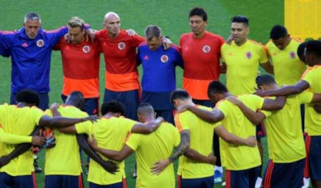 Equipo de Colombia reunido