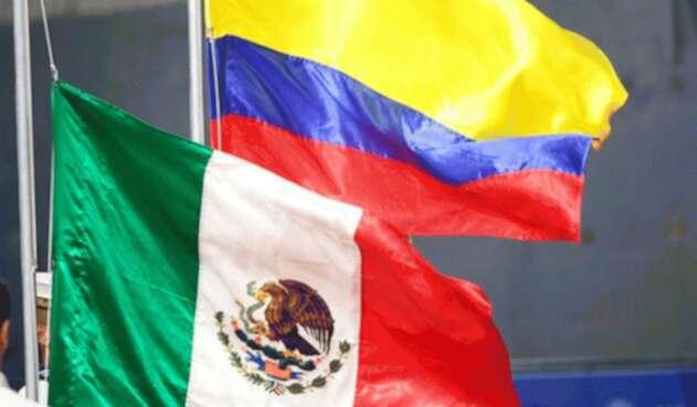Las banderas de México y Colombia en los Juegos Centroamericanos y del Caribe Barranquilla 2018