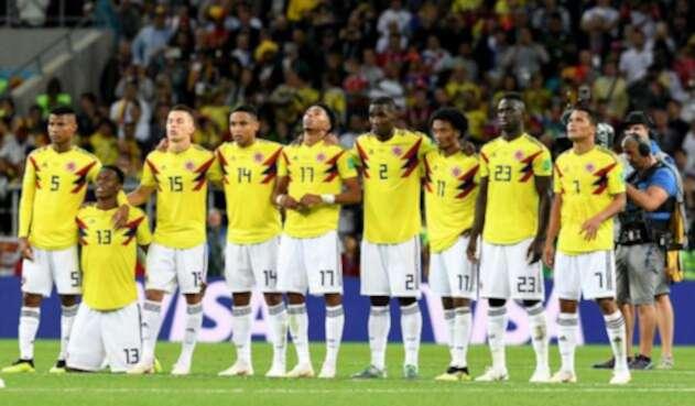 Jugadores de la Selección Colombia