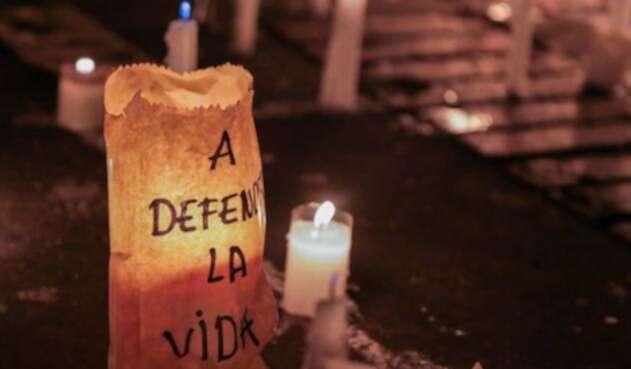 En Colombia se realizó una velatón por los asesinatos de líderes sociales en el país