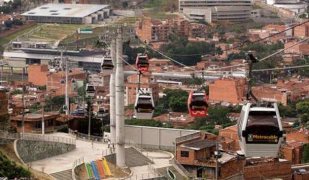 Panorámica de La Comuna 13 de Medellín