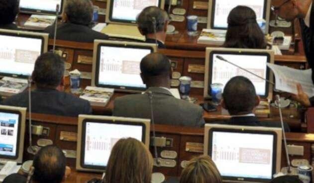 Congresistas en la sede del Capitolio Nacional