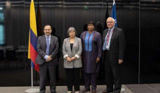 Patricia Linares, presidenta de la JEP se reunió con Fatou Bensouda.