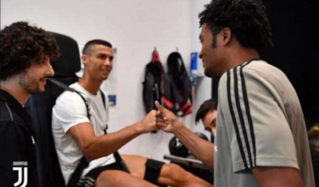 Cristiano Ronaldo y Juan Guillermo Cuadrado