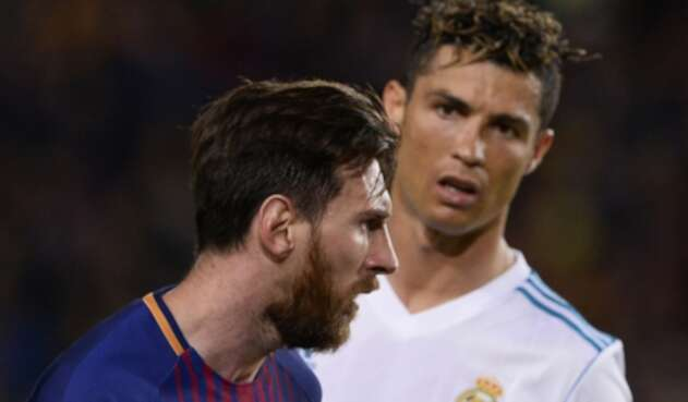 Messi y Cristiano en un clásico Barcelona vs Real Madrid