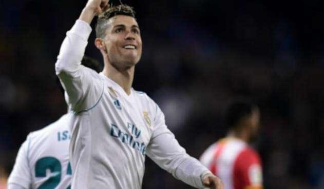 El jugador portugués Cristiano Ronaldo celebrando un gol en la Liga Española