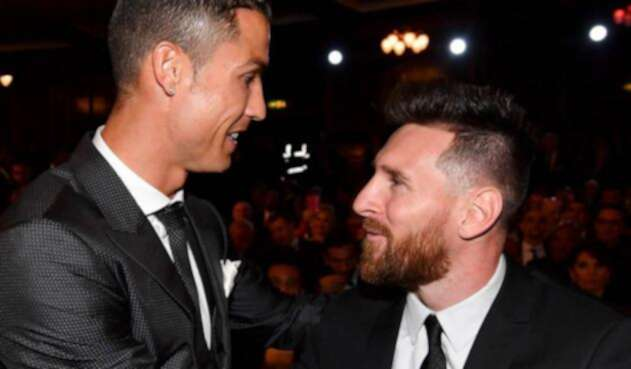 Cristiano Ronaldo y Leo Messi en una gala del Balón de Oro
