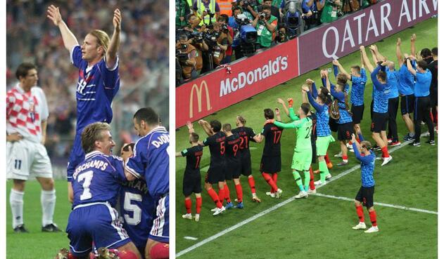 Croatas y franceses se vieron las caras en la semifinal de 1998